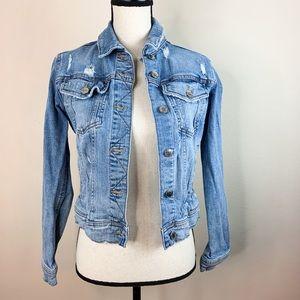 Z1975 Zara Denim Jean Distressed Jacket